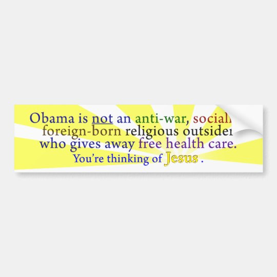 Obama & Jesus Bumper Sticker