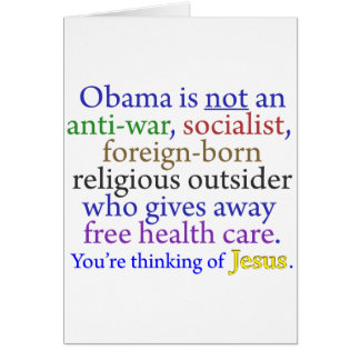 Obama & Jesus Greeting Card