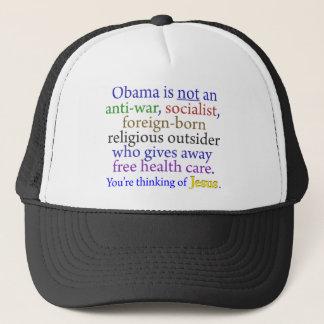 Obama & Jesus Trucker Hat