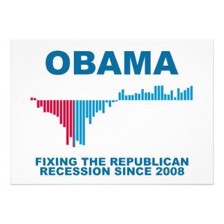 Obama Job Growth Graph Invitations