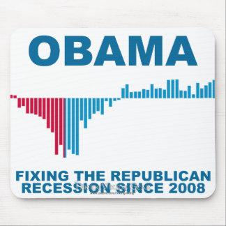 Obama Job Growth Graph Mouse Pad