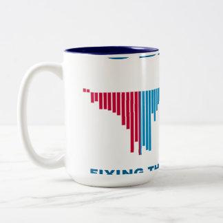 Obama Job Growth Graph Two-Tone Coffee Mug