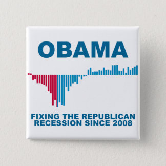 Obama Job Growth Graph Pinback Button
