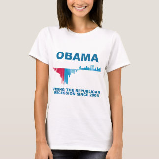 Obama Job Growth Graph T-Shirt
