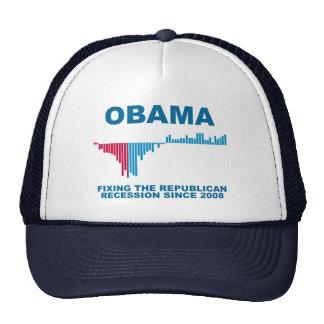 Obama Job Growth Graph Trucker Hat