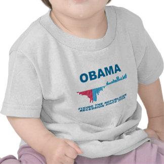 Obama Job Growth Graph T Shirt
