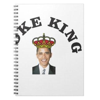 Obama Joke King Notebook