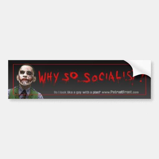 Obama Joker Bumper Bumper Sticker