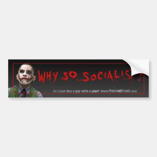 Obama Joker Bumper Car Bumper Sticker
