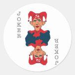 Obama-Joker Classic Round Sticker