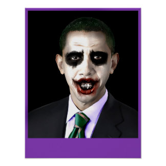 Obama Joker Customizable Poster