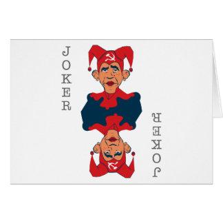 Obama-Joker Greeting Card