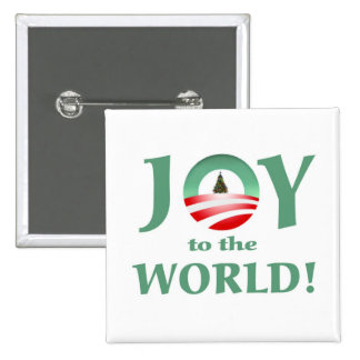 Obama joy to the world christmas button