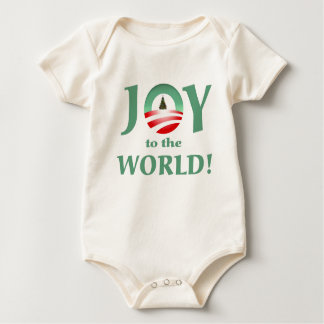 Obama joy to the world christmas onsie baby bodysuit