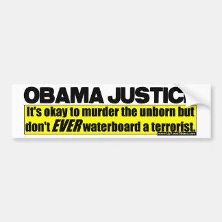 Obama Justice Bumper Stickers
