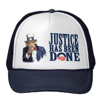 Obama Justice has been done Bin Laden Dead Trucker Hat