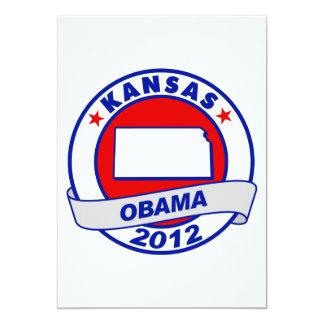 Obama - Kansas 5x7 Paper Invitation Card