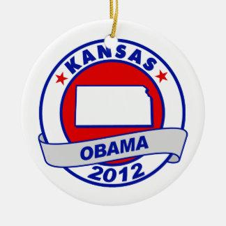 Obama - Kansas Ornaments