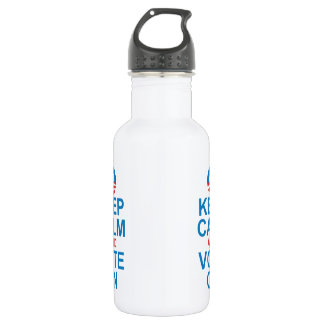 Obama KEEP CALM AND VOTE ON Stainless Steel Water Bottle