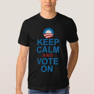 OBAMA KEEP CALM AND VOTE ON TEE SHIRT