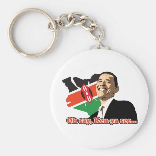 Obama Kenya Basic Round Button Keychain