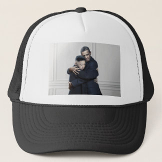 Obama Kim Jong Un North Korea Love Trucker Hat