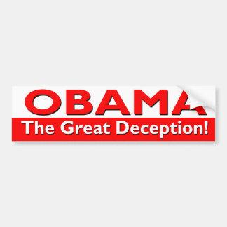 Obama - la gran pegatina para el parachoques del e pegatina para auto