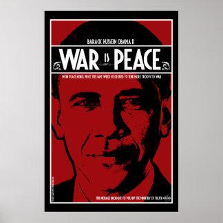 Obama: La guerra es paz Posters