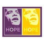 Obama - la nueva postal de la púrpura y del oro de