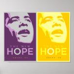 Obama la nuevos púrpura de la esperanza y poster d