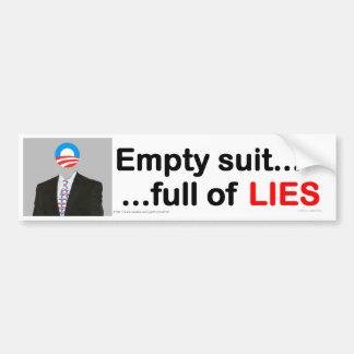 Obama, la pegatina para el parachoques VACÍA del J Pegatina Para Auto