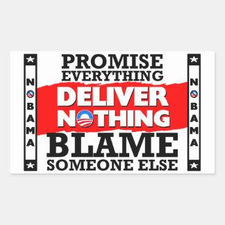 Obama ¡La promesa todo no entrega nada Etiqueta