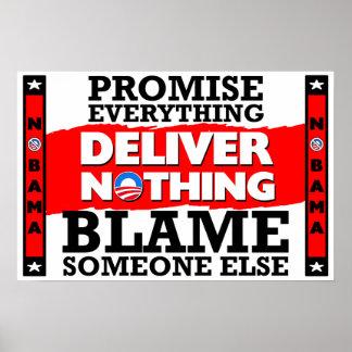 Obama: ¡La promesa todo, no entrega nada! Póster