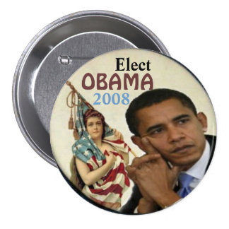 Obama Lady Liberty Button
