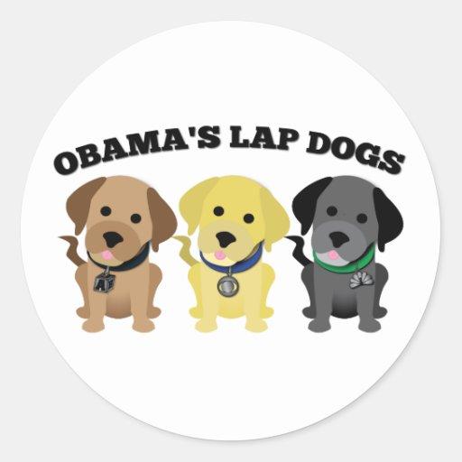 Obama Lap Dogs - The Mainstream Media Classic Round Sticker