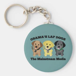 Obama Lap Dogs - The Mainstream Media Keychain