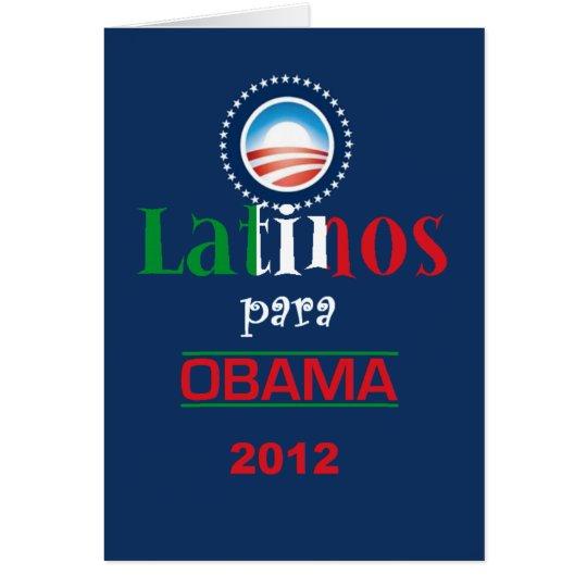 Obama LATINOS Card