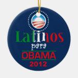 OBAMA LATINOS CHRISTMAS ORNAMENT
