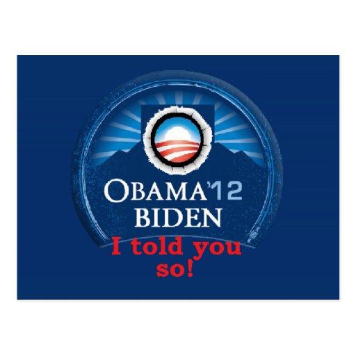 Obama LE DIJO TAN Postal