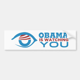 Obama LE ESTÁ MIRANDO PRISMA del ojo de Obama Pegatina De Parachoque