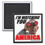 Obama - le estoy mirando América Imanes De Nevera
