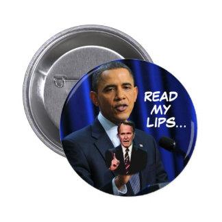 Obama: Lea mis labios… Pin Redondo 5 Cm