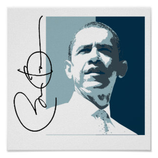 OBAMA LEADERSHIP BLUE -.png Poster