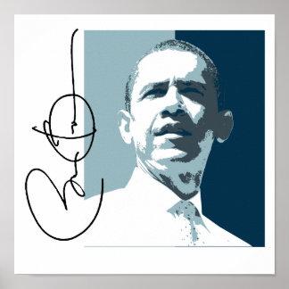 OBAMA LEADERSHIP BLUE -.png Poster