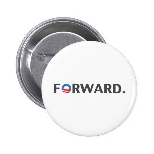 Obama/lema delantero de Biden (gris) Pin