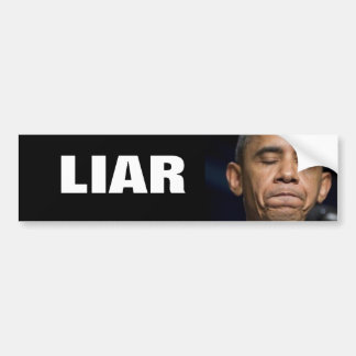 Obama - LIAR Car Bumper Sticker