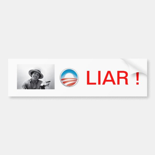 OBAMA LIAR Bumper Sticker