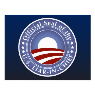 Obama Liar-in-Chief Postcard