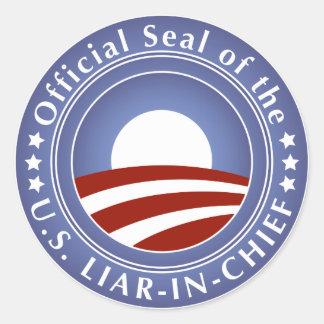 Obama Liar-in-Chief Stickers
