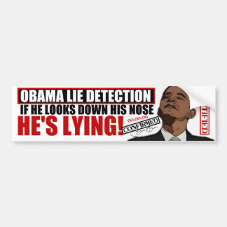 """Obama Lie Detector"" Bumper Sticker"
